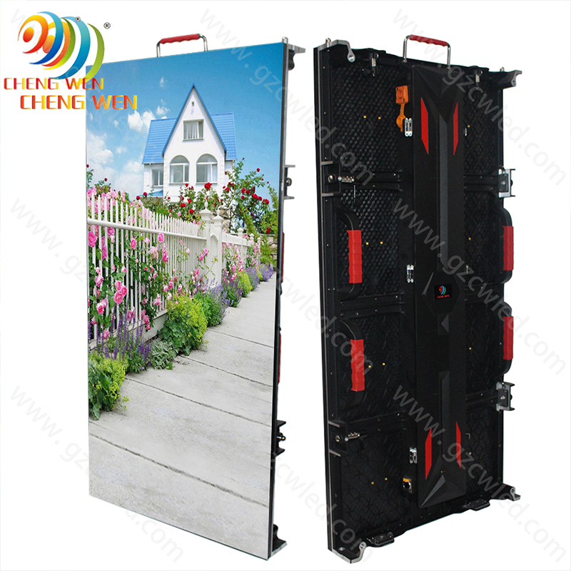 Outdoor P5.95 500*500/500*1000mm led screen display with rental panels
